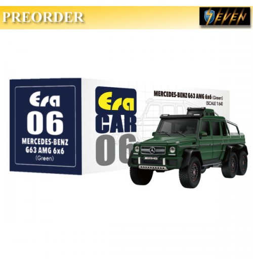 PREORDER: Era Car 1/64 Mercedes-Benz - G63 AMG 6X6 - Green: Diecast Model Car