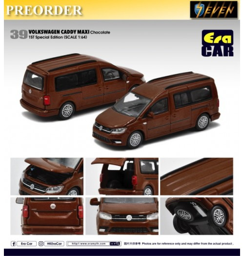 PREORDER: Era Car 1/64 Volkswagen Caddy Maxi - Chocolate 1st SP Edition 39: Diecast Model Car