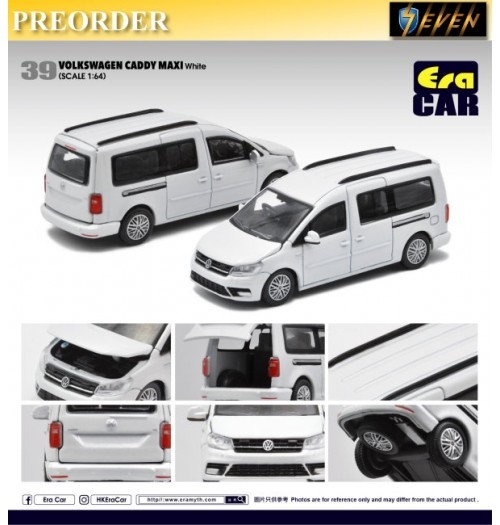 PREORDER: Era Car 1/64 Volkswagen Caddy Maxi - White 39: Diecast Model Car