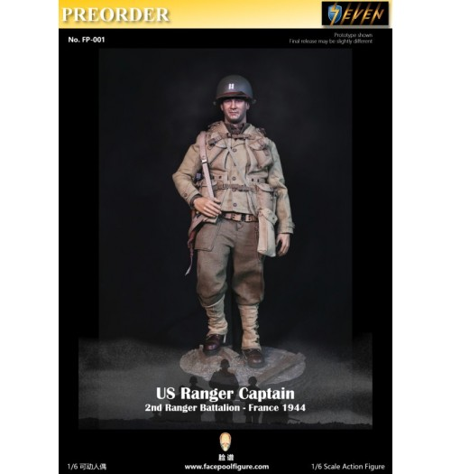PREORDER: Facepoolfigure 1/6 US Ranger Captain (2nd Ranger Battalion - France 1944): Boxset