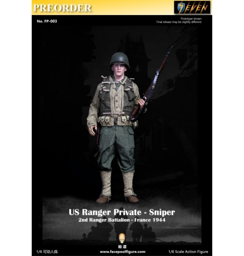PREORDER: Facepoolfigure 1/6 FP003A US Ranger Private - Sniper(Standard): Boxset