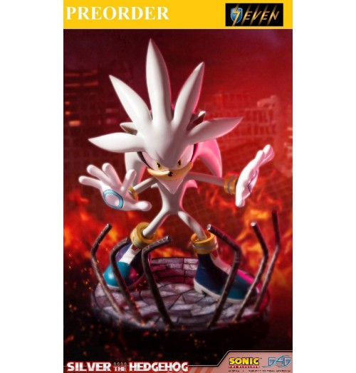"PREORDER: First 4 Figures 17.5"" Silver the Hedgehog PVC Statue"