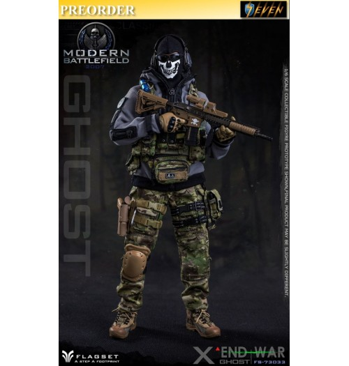 PREORDER: FLAGSET 1/6 FS-73033 Modern Battlefield End War X - Ghost: Boxset