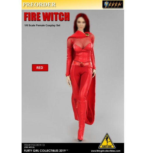 PREORDER: Flirty Girl 1/6 Cosplay Clothing: Set (Fire Witch)