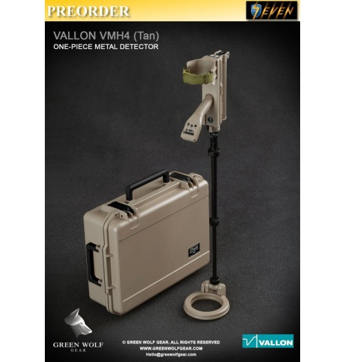 PREORDER: Green Wolf Gear 1/6 GWG-009A Tan color VALLON VMH 4 Compact with Hard Case: Set
