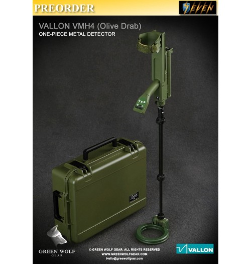 PREORDER: Green Wolf Gear 1/6 GWG-009B Green color VALLON VMH 4 Compact with Hard Case: Set