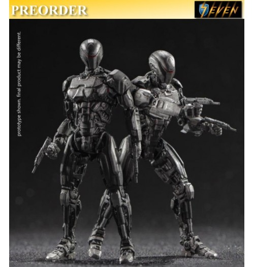 PREORDER: Hiya Toys 1/18 LR0088 Exquisite Mini Series - Robocop 2014 EM208 Two Pack: Boxset