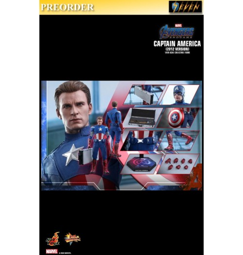 PREORDER: Hot Toys 1/6 Avengers Endgame - Captain America (2012 Version): Boxset