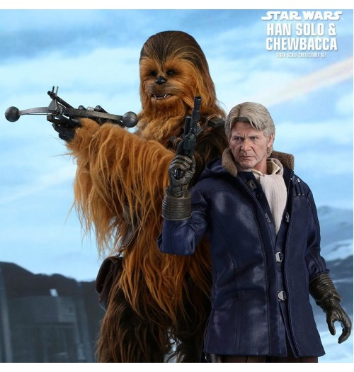 Hot Toys 1/6 Star Wars Force Awaken: Han Solo & Chewbacca Box Set