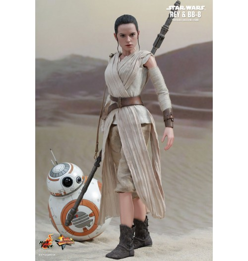 Hot Toys 1/6 Star Wars Force Awaken: Rey & BB8 Box Set