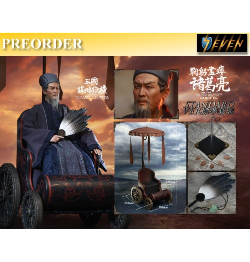 PREORDER: Inflames Toys 1/6 Soul Of Three Kingdoms Stratagems Zhuge Liang: Older Ver Box Set w/ Cart