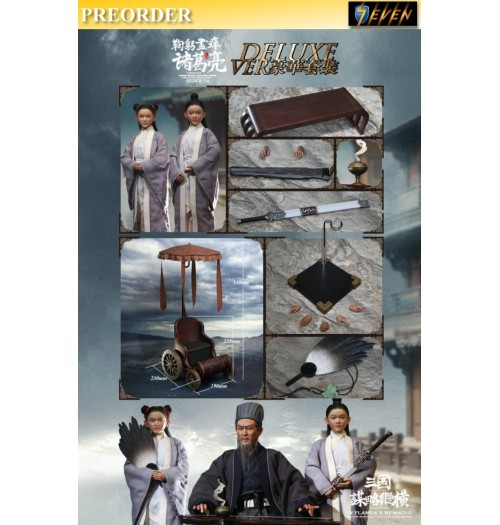 PREORDER: Inflames Toys 1/6 Soul Of Three Kingdoms Stratagems Zhuge Liang: Older Ver Deluxe Box Set w/ Cart