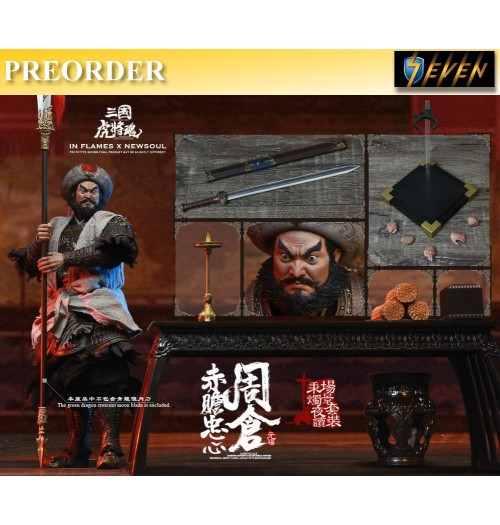 PREORDER: Inflames 1/6 Zhou Cang & Guan Yu's Night Reading Scene Set