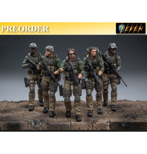 PREORDER: Joy Toy 1/18 Force Recon Team 5 figures: Set
