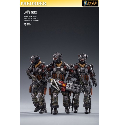 PREORDER: Joy Toy 1/18 Skeleton Force Twin Sickle Team: Set