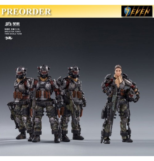 PREORDER: Joy Toy 1/18 Skeleton Force Twin Sickle Team Set with Helan: Boxset