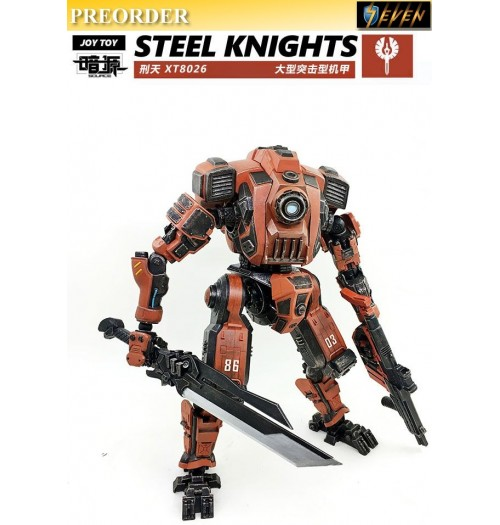 PREORDER: Joy Toy: 1/24 28cm Steel Knight (Red)