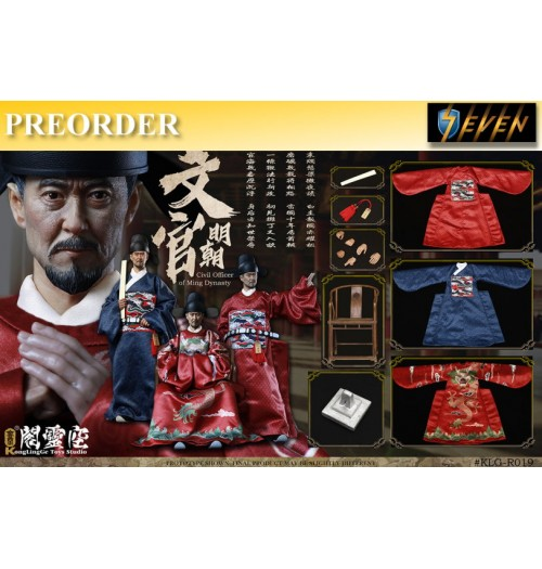 PREORDER: Kong Ling Ge KLG 1/6 Civil Officer of Ming Dynasty: Boxset