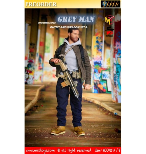 PREORDER: MCCToys 1/6 MCC026A Grey Man Outfit and Weapon: Set