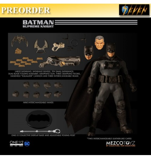 PREORDER: Mezco Toyz 1/12 ONE:12 Batman: Supreme Knight: Boxset