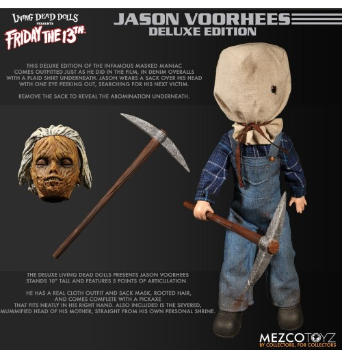 "Mezco Toyz 10"" LDD Friday The 13th Part II: Jason Voorhees(Deluxe)"