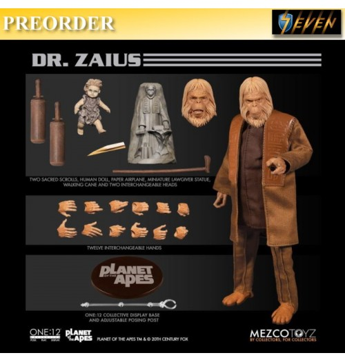 PREORDER: Mezco Toyz 1/12 ONE:12 Planet of the Apes: Dr. Zaius: Boxset