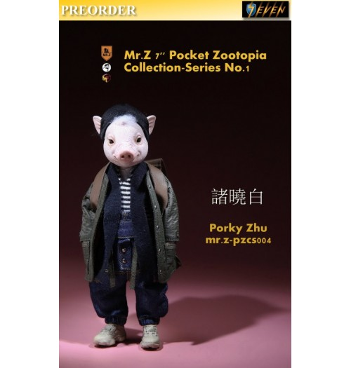 "PREORDER: Mr.Z 7"" Pocket Zoo Collection S1 Porky Zhu: Boxset"