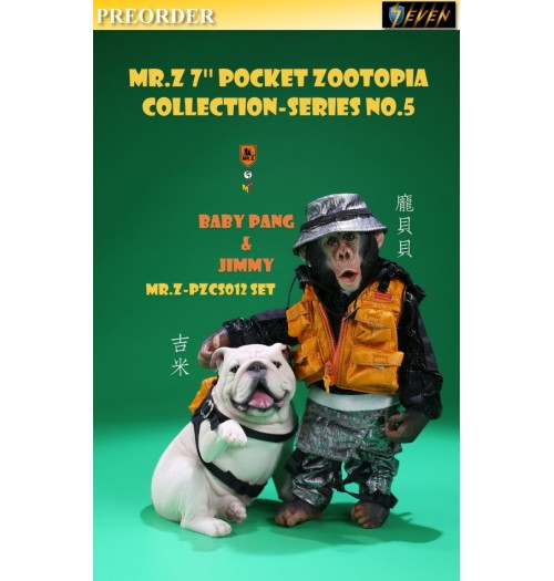 "PREORDER: Mr.Z 7"" Pocket Zoo Collection S5 Baby Pang & Jimmy: Boxset"