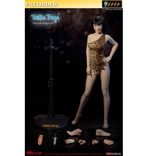 PREORDER: TBLeague 1/6 ERTBLBP005 Bettie Page V2 Queen of Pinups: Boxset