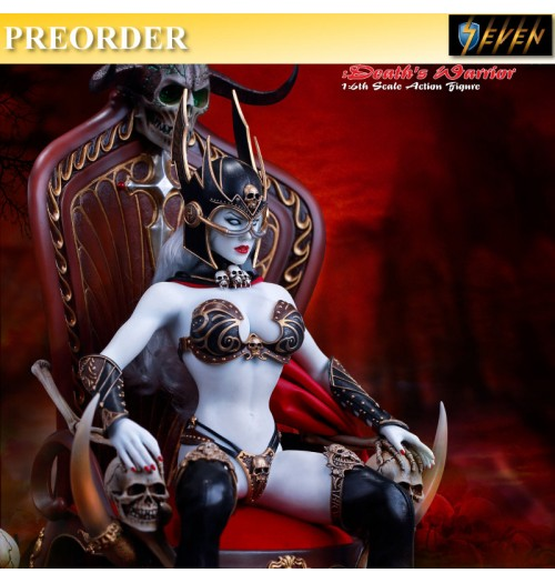 PREORDER: TBLeague 1/6 Lady Death - Death warrior V2 with Base & Throne Set