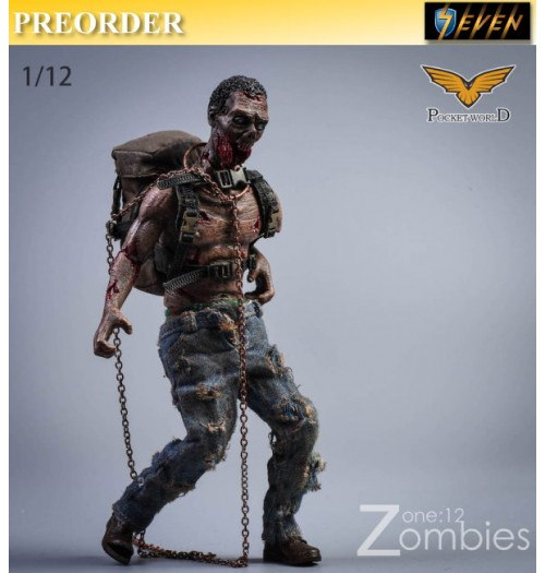 PREORDER: Pocket World 1/12 PW2012D Zombies #D: Set