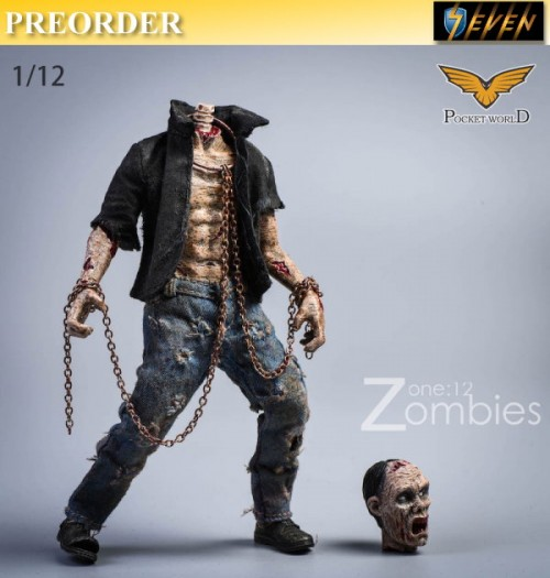 PREORDER: Pocket World 1/12 PW2012E Zombies #E: Set