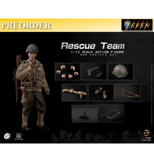 PREORDER: Pop Toys 1/12 CMS001 WWII US Rescue Squad - Sniper: Boxset