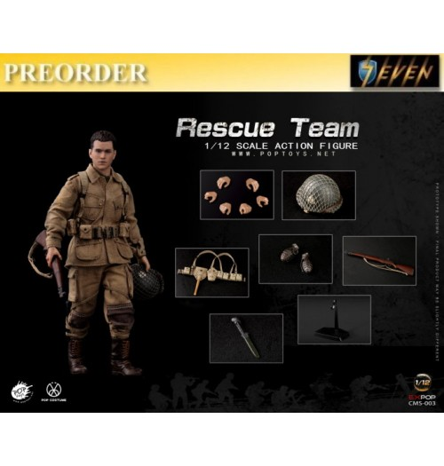 PREORDER: Pop Toys 1/12 CMS003 WWII US Rescue Squad -  Paratrooper: Boxset