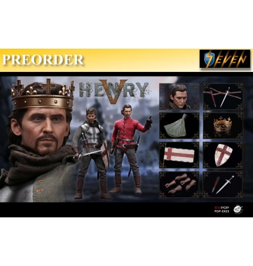 PREORDER: Pop Toys 1/6 King Henry V of England: Boxset