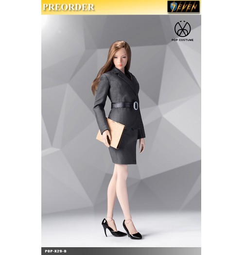 PREORDER: Pop Toys 1/6 X29 Office Lady Suit Skirt Ver (Gray): Set