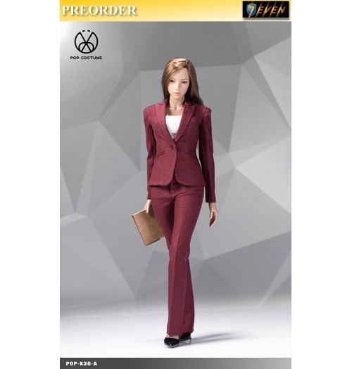 PREORDER: Pop Toys 1/6 X30 Office Lady Suit Pants Ver (Red): Set