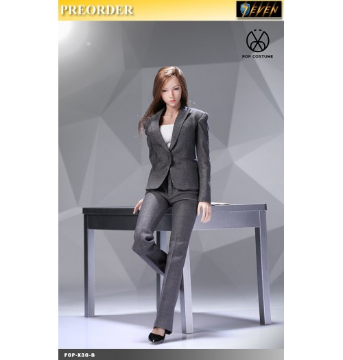 PREORDER: Pop Toys 1/6 X30 Office Lady Suit Pants Ver (Gray): Set