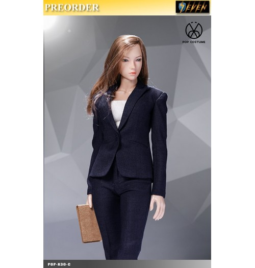 PREORDER: Pop Toys 1/6 X30 Office Lady Suit Pants Ver (Blue): Set