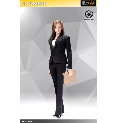 PREORDER: Pop Toys 1/6 X30 Office Lady Suit Pants Ver (Black): Set