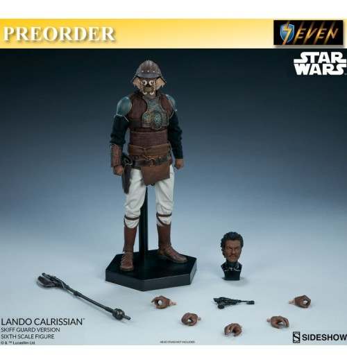 PREORDER: Sideshow 1/6 Star Wars - Lando Calrissian (Skiff Guard Version): Boxset