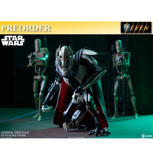 PREORDER: Sideshows 1/6 General Grievous - Star Wars Episode III Revenge of the Sith: Boxset