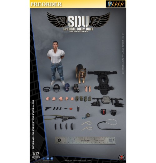 PREORDER: Soldier Story 1/12 HK SDU Canine Handler: Boxset