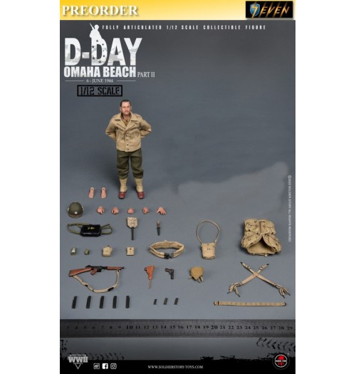 "PREORDER: Soldier Story 1/12 WWII US 2nd Ranger Battalion ""Captain"" (No Diorama): Boxset"