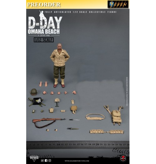 """PREORDER: Soldier Story 1/12 WWII US 2nd Ranger Battalion """"Sergeant"""" (No Diorama): Boxset"""