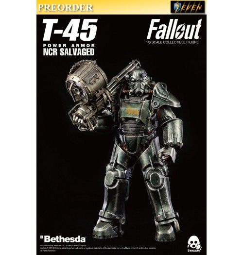 PREORDER: Threezero 1/6 Fallout NCR Salvaged Power Armor (Retail): Boxset