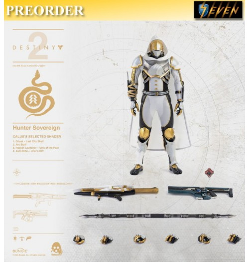 PREORDER: Threezero 1/6 Destiny 2 - Hunter Sovereign (Calus's Selected Shader): Boxset