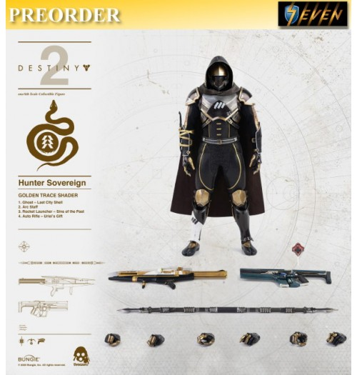 PREORDER: Threezero 1/6 Destiny 2 - Hunter Sovereign (Golden Trace Shader): Boxset