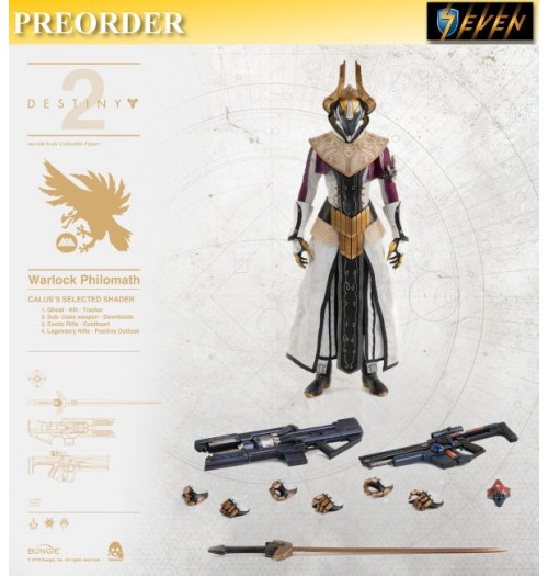 PREORDER: Threezero 1/6 Destiny 2 Warlock Philomath - Calu's Selected Shader: Boxset