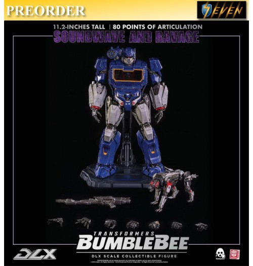 PREORDER: Threezero Transformers Bumblebee - DLX Soundwave and Ravage(Retail): Box